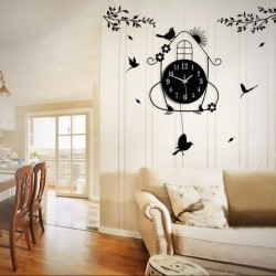 Little bird wall clock art clock-House swing