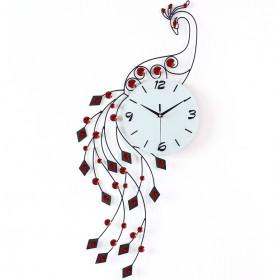 Luxury large premium crystal 3D Art silent wall clock--N