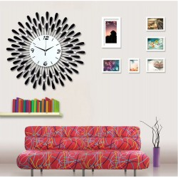 Luxury large premium crystal 3D Art silent wall clock--F