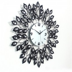 Luxury large premium crystal 3D Art silent wall clock--K