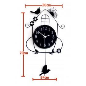 Little bird wall clock art clock-House swing