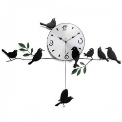 Little bird swing wall clock art clock