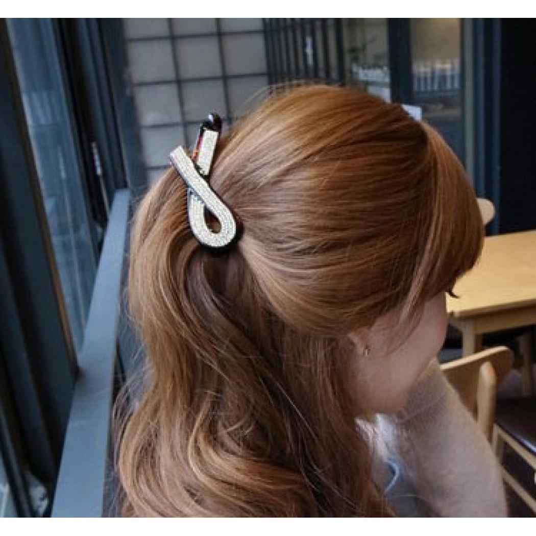 Hair accessories singapore - B159 160 Full Diamond Banana Hair Clip