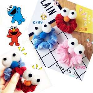 K788-790 Sesame Street Series Elmo & Cookie Master Hair Tie