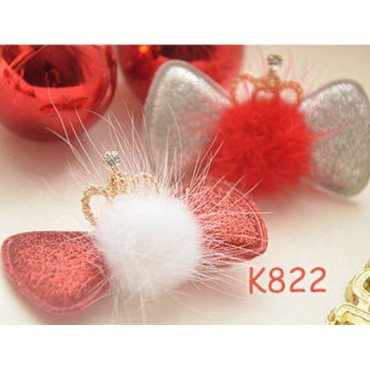 K822-823 Fluffy Crown Hair Clip